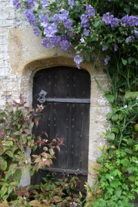 Closed door in garden - Brief counselling - Frome counselling practice