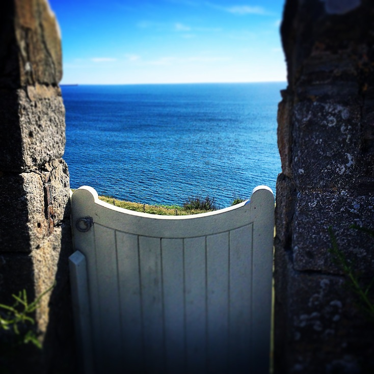 Gate looking out to sea - Ingrid Schultz