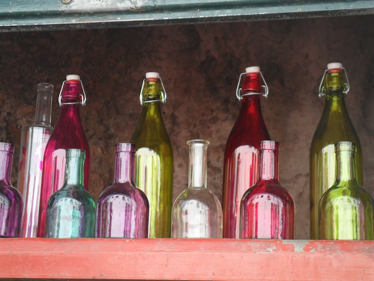 Colourful bottles in a line - brief therapy